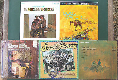 *RARE* Sons Of The Pioneers LP Lot - 5 Records (1960s - 1980s) VG+ To Near Mint