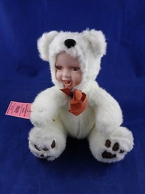 Show-Stoppers Babes The Wild Porcelain Face Plush Doll Animals NIPPY Bear Cub