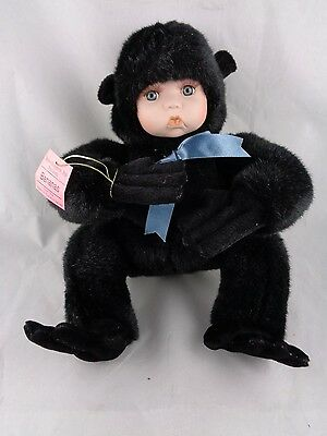 Show-Stoppers Babes The Wild Porcelain Face Plush Doll Animals BANANAS Gorilla