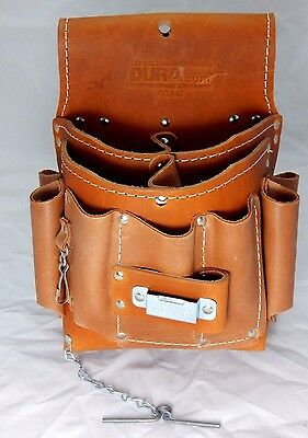 DURACUIR Construction Electrician Leather Tool Pouch With Belt Occidental