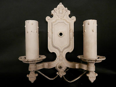 "1920's-1930's ""FRENCH COUNTRY"" ELECTRIC WALL LAMP ""CANDLEHOLDER"""