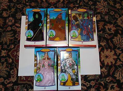 The Wizard Of Oz Barbie Collection 1999 Set Guard Lion Witch Tin Man Monkey