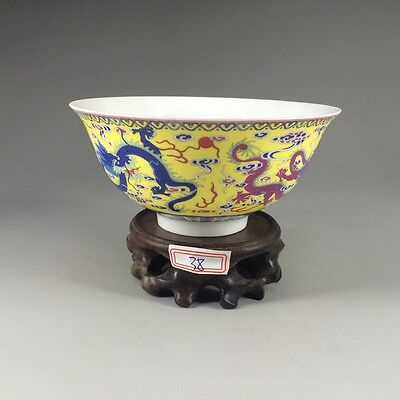 Chinese antiques Hand painted dragon pattern delicate, bowl