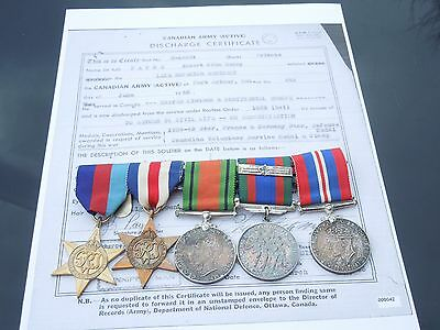 WWII Canadian Medal Group of 5 to Lake Superior Regiment