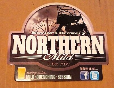 Beer pump badge clip NAYLOR'S brewery NORTHERN MILD real cask ale pumpclip front