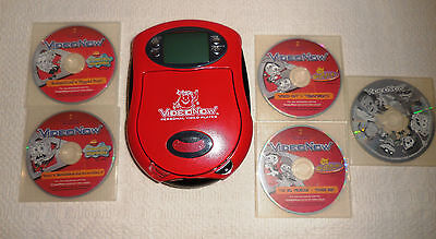 VideoNow Personal Video Player Red 2003 Hasbro Tested With 6 Discs Kool Aid Man