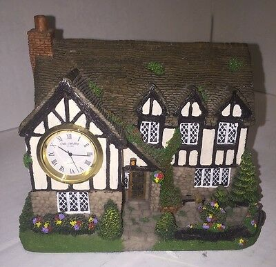 VINTAGE RARE Widdop Clock On A Country Cottage--Signed MTIF 1997 # C2036