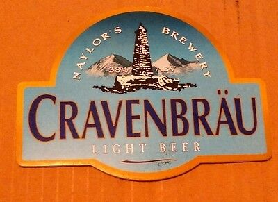 Beer pump badge clip NAYLOR'S brewery CRAVENBRAU real cask ale pumpclip front