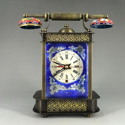In 1888 the French antique handmade painting enamel colour clock & alarm clock