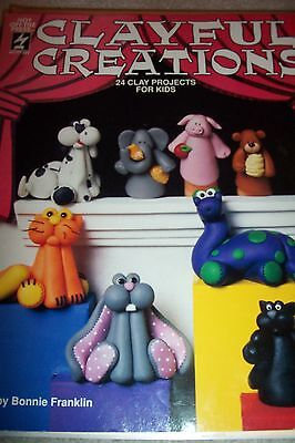 Clayful Creations Clay Project Instruction Book Bonnie Franklin 1994