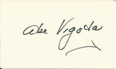 ABE VIGODA BARNEY MILLER THE GODFATHER IN-PERSON SIGNED CARD dec. 2016
