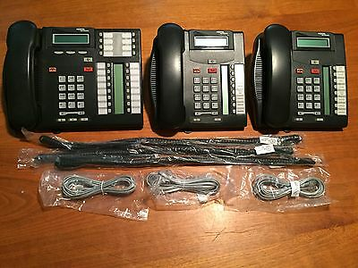 Nortel Networks T7316e - T7208 Telephones - Lot of 3 - Refurbished - Nice