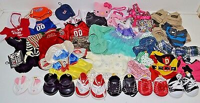 HUGE Build A Bear Lot of 35+ Clothes Doctor Princess Gators Shoes Boy Girl