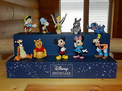 Disney Showcase Complete Set Of 10 Laughing Figures With Display Stitch Tigger