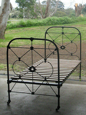 Genuine Victorian Single Cast Iron Bed