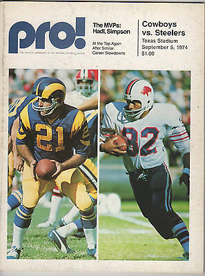 1974 Dallas Cowboys Program Signed By 35 - Staubach, Lilly, Hayes, Renfro,+++