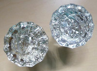 Doorknobs Glass Victorian 12 Facet Antique Lot of 2