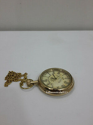 Vintage Victoria London 1875 Pocket Watch - Gold Color Pocket watch