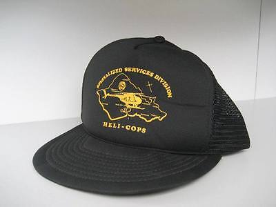 Cap Hat Police Heli-Cops Helicopter Lapd Usa