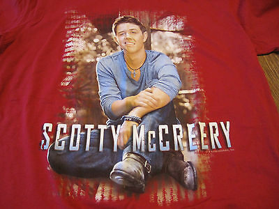 Scotty McCreery Concert Tour Graphic Tshirt Red Large
