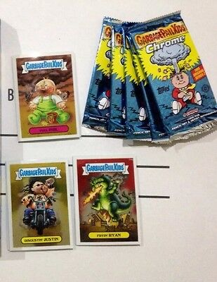 Garbage Pail Kids O/S 2 Chrome Complete Set a&b& returning Cards & Wrappers