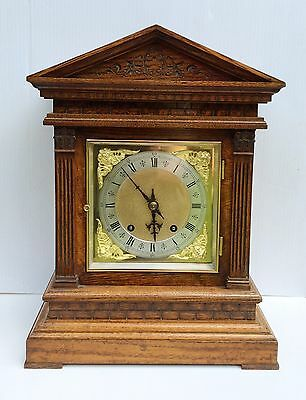 Winterhalder & Hofmeier Honey Oak Ting Tang Bracket Clock