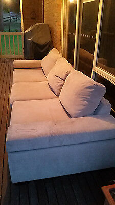 Solid Lounge/Couch 3 Seater (Seats 5 really)