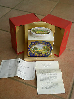 Twinings Of London Ceramic Tea Caddy With Certificate - Limited Edition
