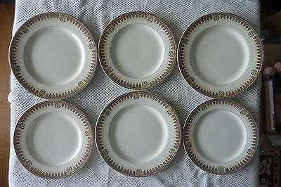 J&g Meakin England Earthenware Dinner Plate X 3 & Lunch Plate X 3 Amiens Design