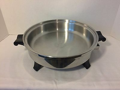 """Regal Ware Society Cookware Electric Skillet Liquid Core 11"""" Immersible Cat#7253"""