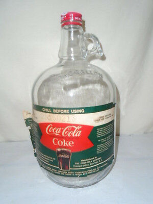"""Vintage Coke Coca Cola Syrup Bottle 1 Gal """"Cocaine Removed"""""""