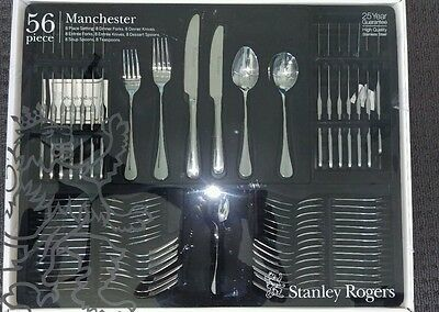 STANLEY ROGERS Manchester 56 Piece Cutlery Set!