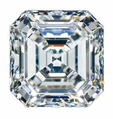 1.28 ct 6.03 mm asscher cut absolute white colorless loose moissanite for sale
