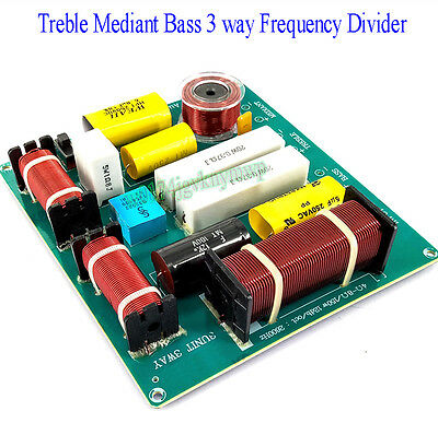 Treble Mediant Bass 3-way Frequency Divider KTV Stage Speaker Crossover Filters