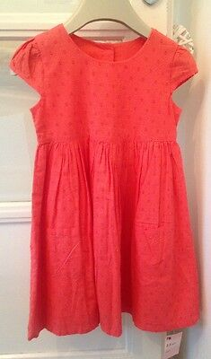 BNWT Mothercare 2-3 Yrs Girls Coral Dress