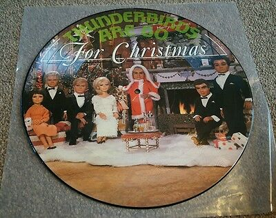 """Thunderbirds Are Go For Christmas 12"""" Picture Disc EXCELLENT CONDITION"""