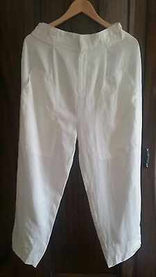 New Country Road 12 linen pants trousers white
