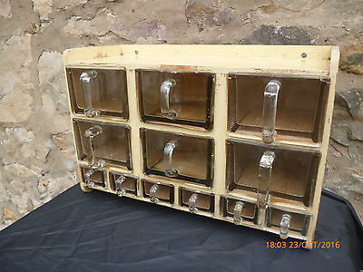 Vintage 1950's Cabinet with Glass Drawers