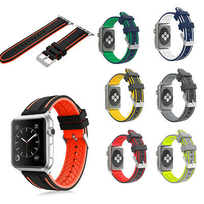 Silicone Replacement Sports Strap Band for Apple Watch Series 3 / 2 / 1