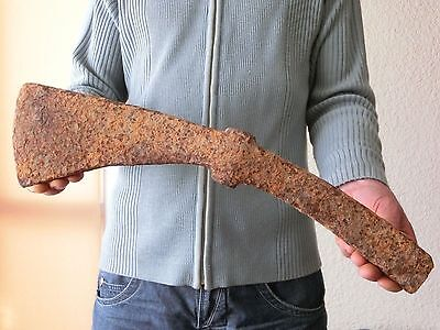 """۞ 16.5"""" Ancient Viking Giant Double Battle Axe Genuine Artifact - Extremely Rare"""