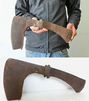 ۞ GENUINE ANCIENT VIKING ORNAMENTED DOUBLE BATTLE AXE - THE ONLY ONE in eBay