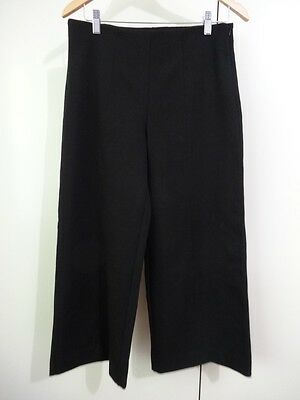 BNWT Size 8 Black Ponte Wide Leg Pants Culottes Stretch Knit Pants Trousers