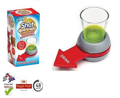 Spin The Shot Spinner Fun Adult Drinking Fun Filled Party Game Includes Glass