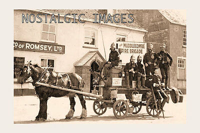 Photo Taken From A 1933 Image Of Muudlecombe Fire Brigade