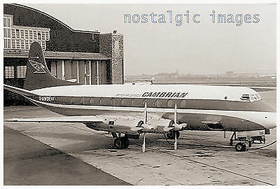 IMAGE TAKEN FROM A 1960's IMAGE -LIVERPOOL AIRPORT - CAMBRIAN AIRWAYS - VISCOUNT