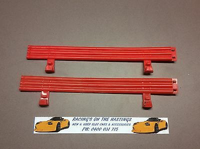 Used 1:32 Scalextric Classic C274 Red Fence For Slot Car Track x2. Ripple . GC.