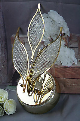 Rare Vintage Italian Wall sconce early 1980's Autumn leaves glass pearls