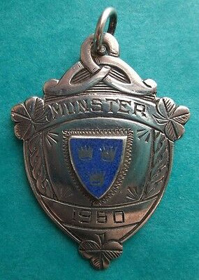 1960 MUNSTER CROSS COUNTRY ENAMEL & SILVER  NOV, MEDAL 2nd TEAM
