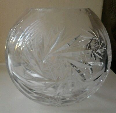 Brand New Cut Glass Crystal  Bowl
