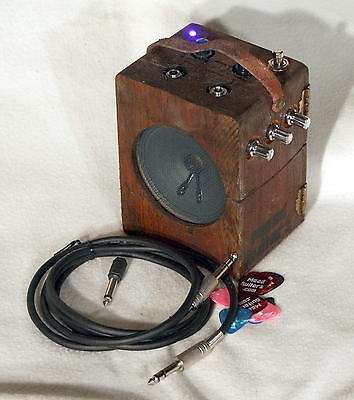 Electric Cigar Box Guitar Practice Amp - Boss DM-2 Clone Delay + Distortion